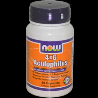 NOW NOW 4*6 Acidophilus (60 капсул)