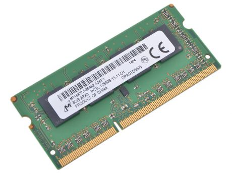 Оперативная память Crucial DDR3 8Gb, PC12800, SO-DIMM, 1600MHzl (CT102464BF160B) CL11, 1.35V/1.5V [Retail]
