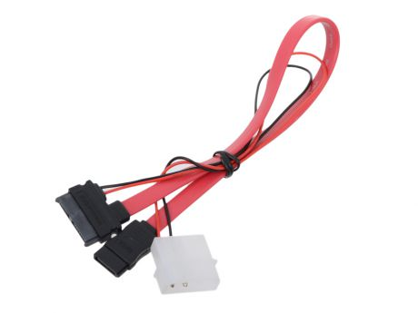 Кабель SATA Slimline SATA 6+7P/SATA 7P + Power for miniITX case