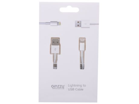 Кабель Lightning GINZZU GC-501W белый,   для Iphone 5/5S / подходит для iOS 7