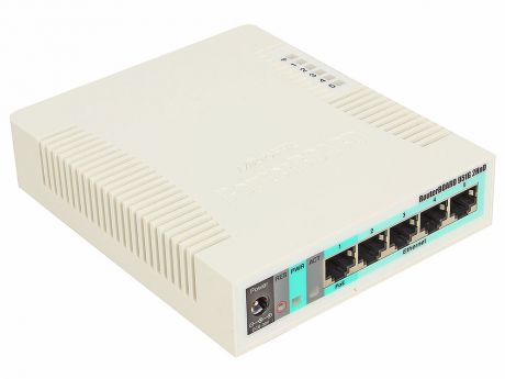Маршрутизатор MikroTik RB951G-2HnD Беспроводной маршрутизатор 600Mhz CPU 128MB RAM 5xGbit LAN, built-in 2.4Ghz 802b/ g/ n