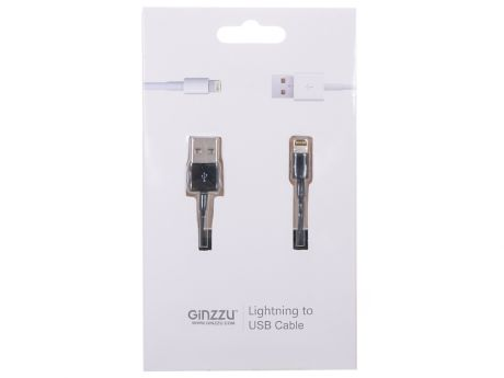 Кабель Lightning GINZZU GC-501B черный, для Iphone 5/5S / подходит для iOS 7