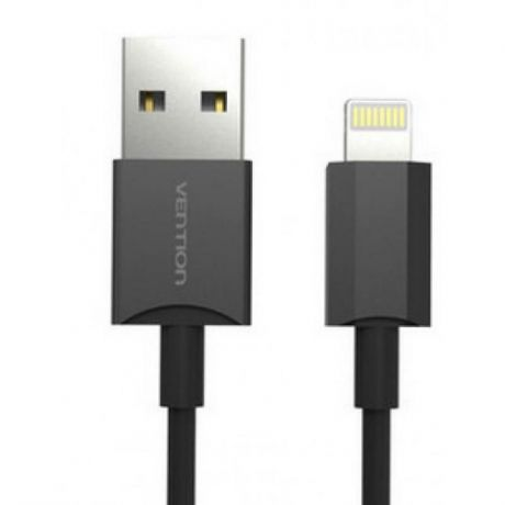 Кабель Vention USB 2.0 AM-Lightning 8M для iPad/iPhone 5/6 черный VAI-C02-B100