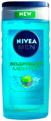 Nivea Гель д/д nivea for men бодрящий ментол, 250мл