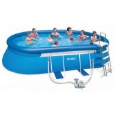 Intex бассейн каркасный intex  oval frame pool 549х305x107 см  арт.54432