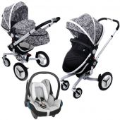 Silver Cross коляска 3 в 1 silver cross surf на белой раме с автокреслом maxi-cosi