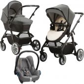 Silver Cross коляска 3 в 1 silver cross pioneer special edition eton grey  с автокреслом maxi-cosi