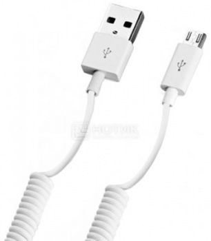 Кабель Deppa 72120 витой для iPhone, iPad, iPod Apple Lightning port/USB, 1,2м, Белый