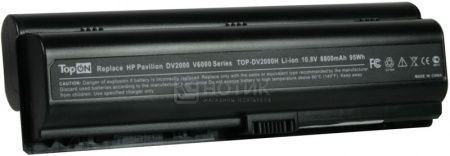 Аккумулятор TopON TOP-DV2000H 10.8V 8800mAh для HP PN: HSTNN-IB31 EX941AA EV088AA HSTNN-LB31 411462-421 417066-001