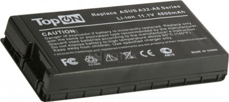 Аккумулятор TopON TOP-A8/A32-A8 11.1V 4800mAh для Asus PN: A32-A8 70-NF51B1000 90-NF51B1000