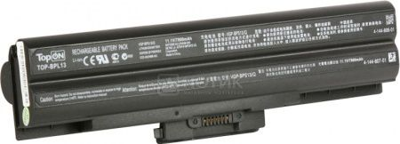 Аккумулятор TopON TOP-BPL21H-NOCD для 11,1V 10400mAh PN: VGP-BPS21 VGP-BPL13 VGP-BPL21