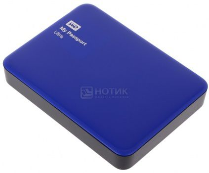"Жесткий диск Western Digital 1Tb WDBDDE0010BBL-EEUE My Passport Ultra 2.5"" USB 3.0, Синий"