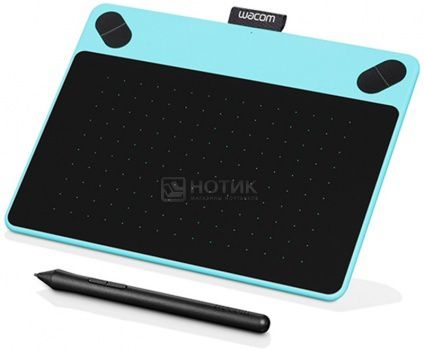 Графический планшет Wacom Intuos Draw Pen Smalll, Голубой CTL-490DB-N