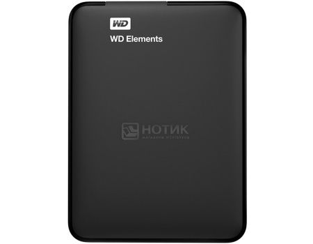 "Жесткий диск Western Digital 1Tb WDBUZG0010BBK-EESN Elements Portable 2.5"" USB 3.0, Черный"