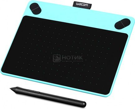 Графический планшет Wacom Intuos Comic Pen and Touch Small, Голубой CTH-490CB-N