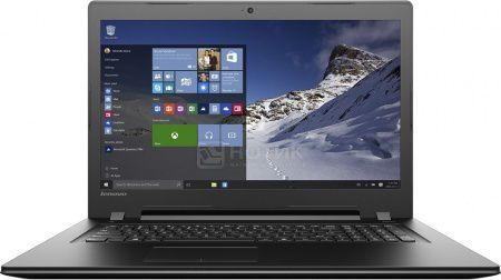 Ноутбук Lenovo IdeaPad B7180 (17.3 LED/ Pentium Dual Core 4405U 2100MHz/ 4096Mb/ HDD 1000Gb/ AMD Radeon R5 M330 2048Mb) MS Windows 10 Home (64-bit) [80RJ00F2RK]
