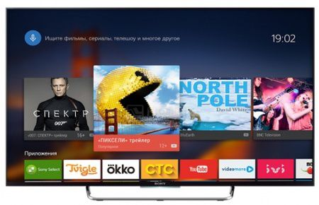 Телевизор SONY 43 KDL-43W808C, Full HD, SmartTV, Android TV, 3D, Черный