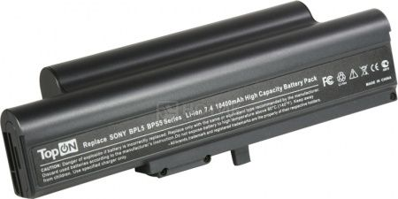 Аккумулятор TopON TOP-BPL5H 7.4V 10400mAh для Sony Vaio PN: VGP-BPS5A VGP-BPL5A