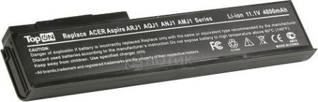 Аккумулятор TopON TOP-ARJ1 11.1V 4800mAh для Acer eMachines PN BTP-AMJ1 BTP-ARJ1 BTP-ANJ1 BTP-AOJ1 BTP-AQJ1
