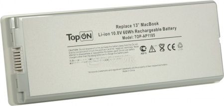 Аккумулятор TopON TOP-AP1185 White 10.8V 5600mAh для Apple PN: A1185 MA561LL/A MA561G/A