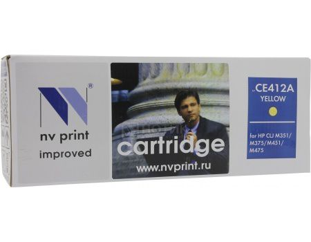 Картридж NV Print CE412A Yellow для HP CLJ Color M351, M451, MFP M375/MFP M475, Желтый NV-CE412AY