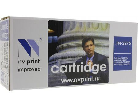 Картридж NV Print Brother TN-2275 для Brother HL-2240, 2240D, 2250DN, DCP7060, 7065, 7070, MFC7360, 7860, FAX2845, 2940, Черный NV-TN2275