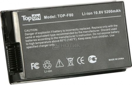 Аккумулятор TopON TOP-F80 10.8V 5200mAh для Asus PN: A32-F80A A32-F80H 70-NF51B1000 90-NF51B1000