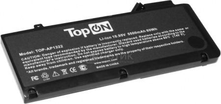 Аккумулятор TopON TOP-AP1322 10.95V 5500mAh 60Wh для Apple PN: AP1322