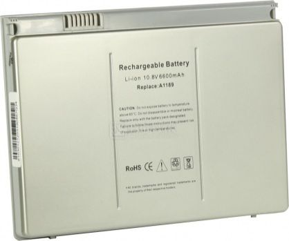 Аккумулятор TopON TOP-AP1189 10.8V 6600mAh для Apple PN: A1189 MA458G/A MA458*/A