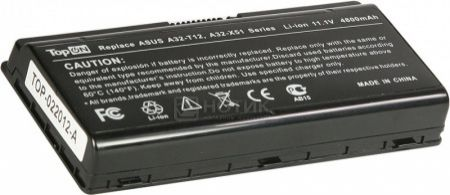 Аккумулятор TopON TOP-X51 11.1V 4800mAh для Asus PN: A32-T12 A32-X51 90-NQK1B1000Y