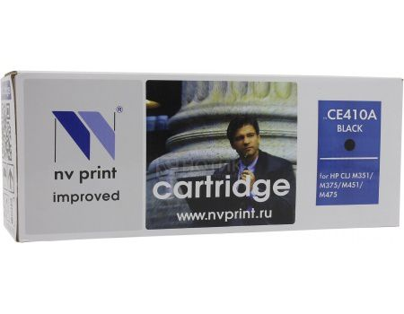 Картридж NV Print CE410A Black для HP CLJ Color M351, M451, MFP M375/MFP M475, Черный NV-CE410ABk