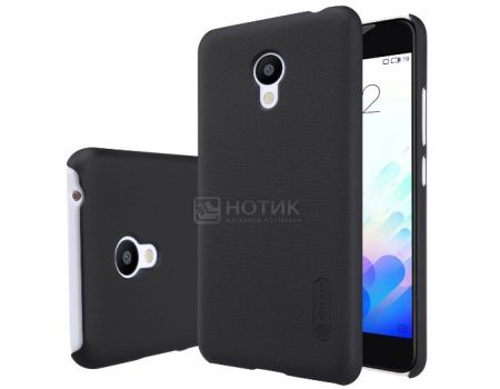 Чехол Nillkin Frosted Shield для Meizu M3 note, Пластик, Black, Черный, 874004Y0400