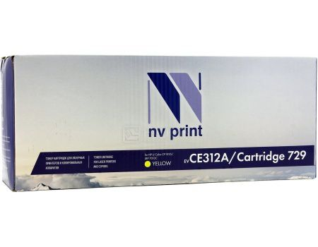 Картридж NV Print CE312A для HP CE311A/Canon729, LJ Color CP1025 Желтый