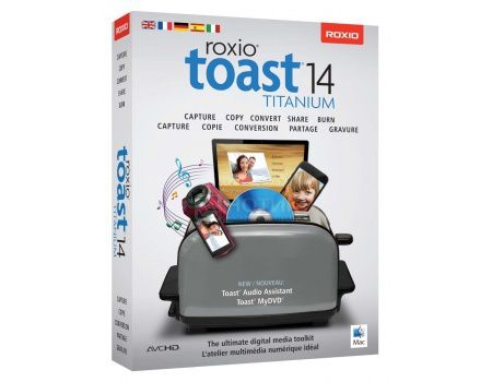 Электронная лицензия Corel Roxio Toast 14 Titanium ML for Mac, ESDRTO14TIMACML (EN/FR/DE/IT/ES/BR)