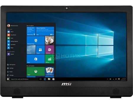 Моноблок MSI Pro 24 6NC-011RU (23.6 LED/ Core i3 6100 3700MHz/ 4096Mb/ HDD 1000Gb/ NVIDIA GeForce GT 930MX 2048Mb) MS Windows 10 Home (64-bit) [9S6-AE9311-011]