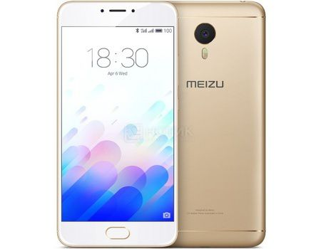 "Смартфон Meizu M3 Note 32Gb Gold (Android 5.1/MT6755 1800MHz/5.5"" (1920x1080)/3072Mb/32Gb/4G LTE 3G (EDGE, HSDPA, HSPA+)) [L681H-32-GOWH]"
