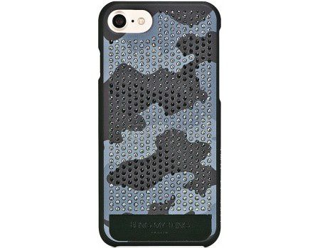 Чехол-накладка Bling My Thing, Vogue Camouflage Monochrome Grayscale Camo для iPhone 7 с кристаллами Swarovski, ip7-vg-bkm-bkm, Пластик, Черный