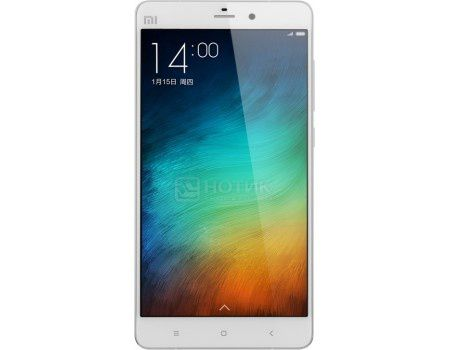 "Смартфон Xiaomi Mi Note 64Gb White (Android 4.4/MSM8974AC 2500MHz/5.7"" (1920x1080)/3072Mb/64Gb/4G LTE 3G (EDGE, HSDPA, HSPA+)) [Mi Note 64Gb White]"