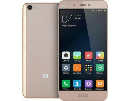 "Смартфон Xiaomi Mi 5 32Gb Gold (Android 6.0 (Marshmallow)/MSM8996 1800MHz/5.1"" (1920x1080)/3072Mb/32Gb/4G LTE 3G (EDGE, HSDPA, HSPA+)) [Mi 5 32Gb Gold]"