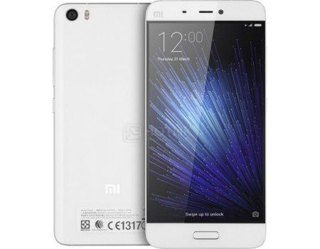 "Смартфон Xiaomi Mi 5 32Gb White (Android 6.0 (Marshmallow)/MSM8996 1800MHz/5.1"" (1920x1080)/3072Mb/32Gb/4G LTE 3G (EDGE, HSDPA, HSPA+)) [Mi 5 32Gb White]"