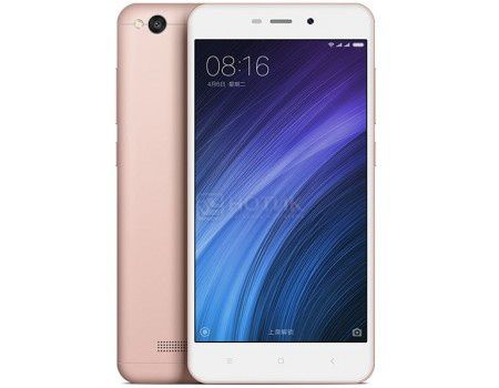 "Смартфон Xiaomi Redmi 4A Rose Gold (Android 6.0 (Marshmallow)/MSM8917 1400MHz/5.0"" (1280x720)/2048Mb/16Gb/4G LTE 3G (EDGE, HSDPA, HSPA+)) [6954176830302]"