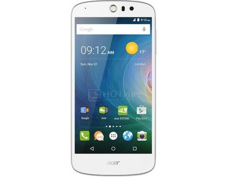 "Смартфон Acer Liquid Z530 8Gb White (Android 5.1/MT6735 1300MHz/5.0"" (1280x720)/1024Mb/8Gb/4G LTE 3G (EDGE, HSDPA, HSPA+)) [HM.HQWEU.004]"