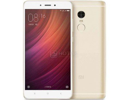 "Смартфон Xiaomi Redmi Note 4 32Gb Gold (Android 6.0 (Marshmallow)/MT6797 2100MHz/5.5"" (1920x1080)/3072Mb/32Gb/4G LTE 3G (EDGE, HSDPA, HSPA+)) [6954176832696]"
