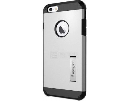 Чехол-накладка Spigen SGP для iPhone 6/6s Tough Armor Case SGP10917, Поликарбонат, Satin Silver, Серебристый