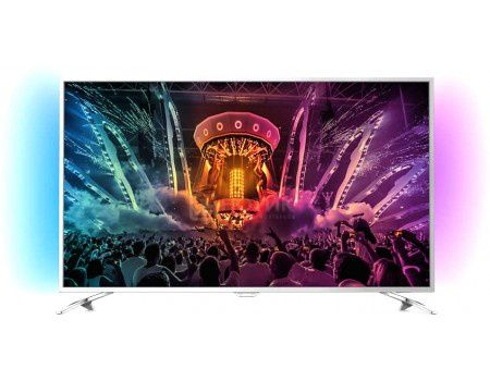 Телевизор Philips 49PUS6501/60, UHD, SmartTV, Android TV, Серебристый