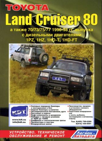 TOYOTA LAND CRUISER 80 1990-1998 дизель Пособие по ремонту и эксплуатации (5-88850-080-1)