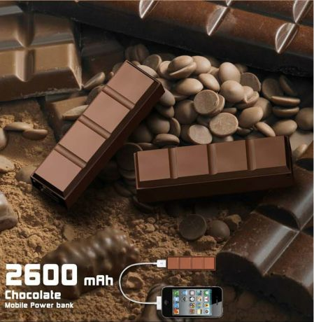 Power Bank Chocolate 2 600 мАч