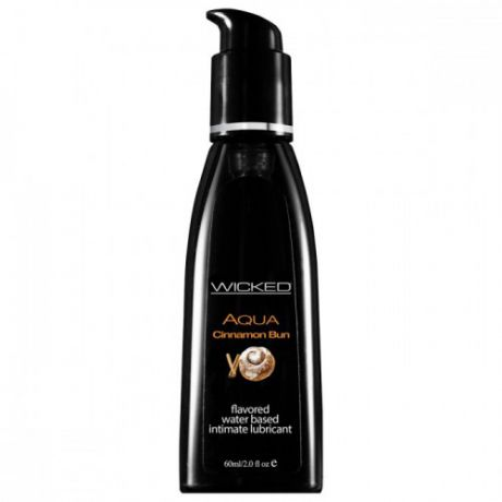 Лубрикант со вкусом булочки с корицей WICKED AQUA 60 ml