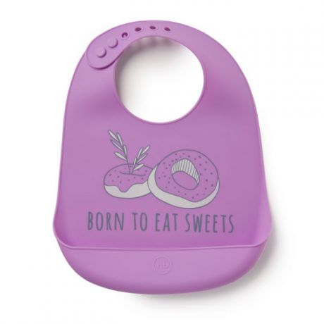 Нагрудник Happy Baby силиконовый Bib Pocket Violet 16006