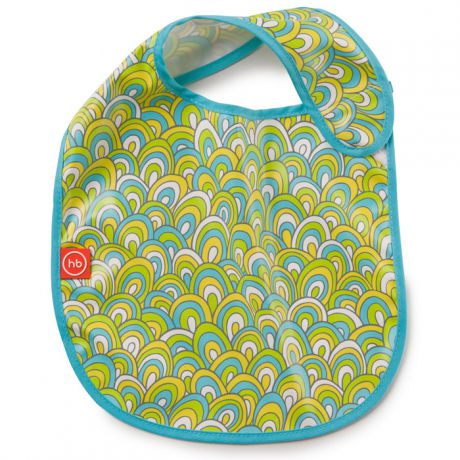 Нагрудник Happy Baby на липучке Waterproof Baby Bib Colorful (цветной) 16009